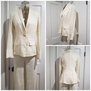 3pc DVF Ivory Linen Suit Size 6